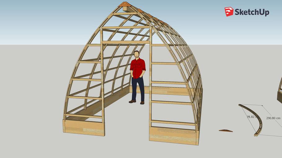 Gothic Arch Greenhouse 3m x 5m