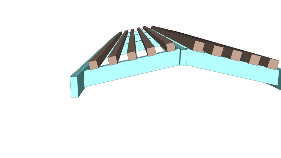 Sun shade trellis - 2 sizes of shade slats