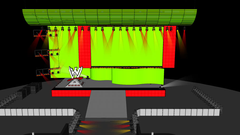 WWE Stage With Ramp