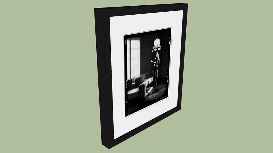 "BRODZIAK ""Noti"" Lamp 40x36cm - Black&White, Photography, Image, Picture"