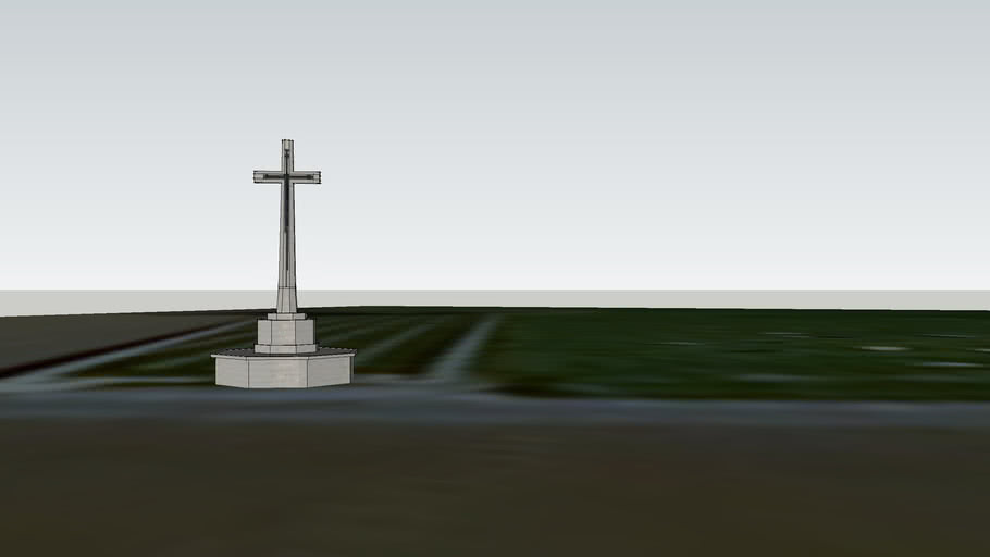 the cross of sacifice at hop store military Cemetery