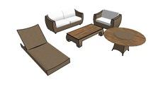 conjuntos de mesas, cadeiras e sofás