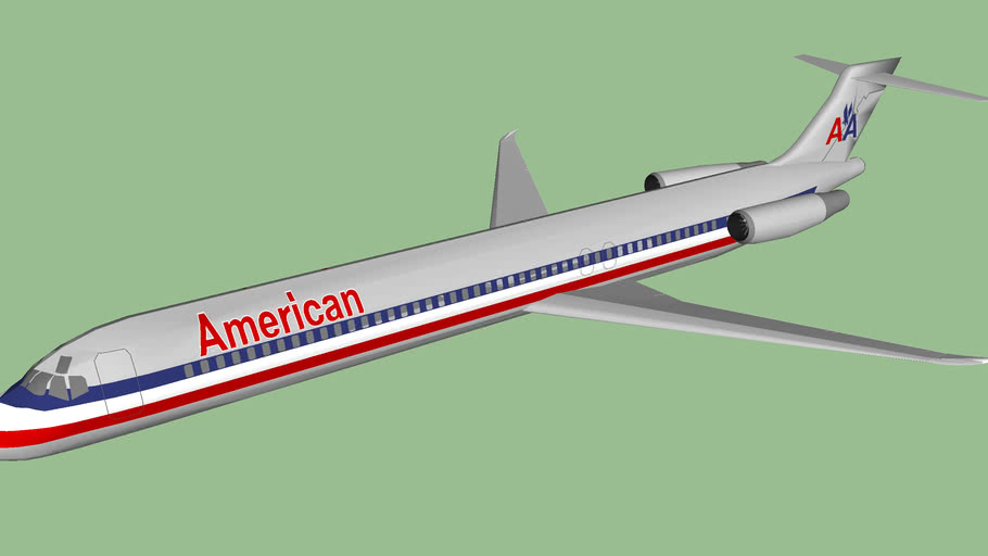 American Airlines MD-83 Cruising Stage.