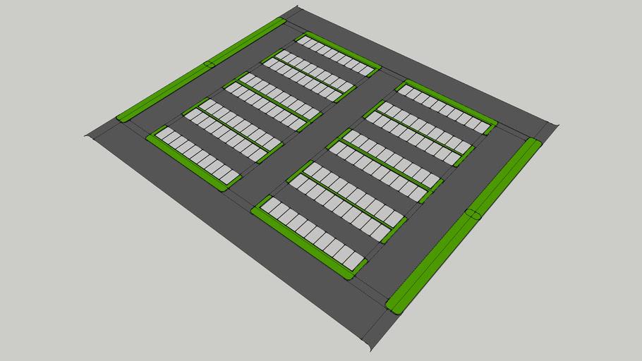 120 parking spots surface parking lot