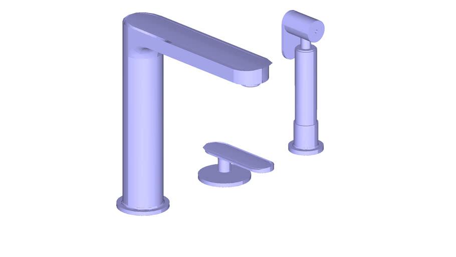 JUSTIME Single-Handle Kitchen Faucet W/Sprayer _6922-X6-82CP 水龍頭 + 洗滌器