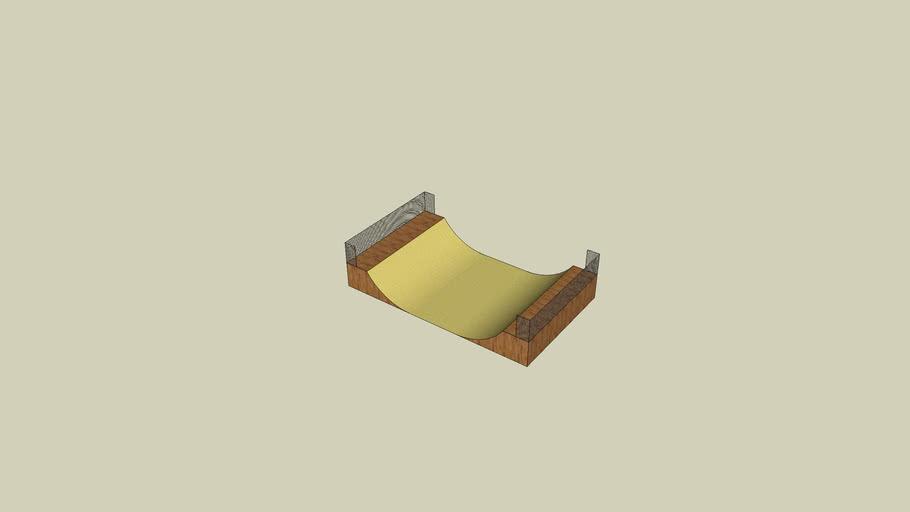 half pipe skate board ramp