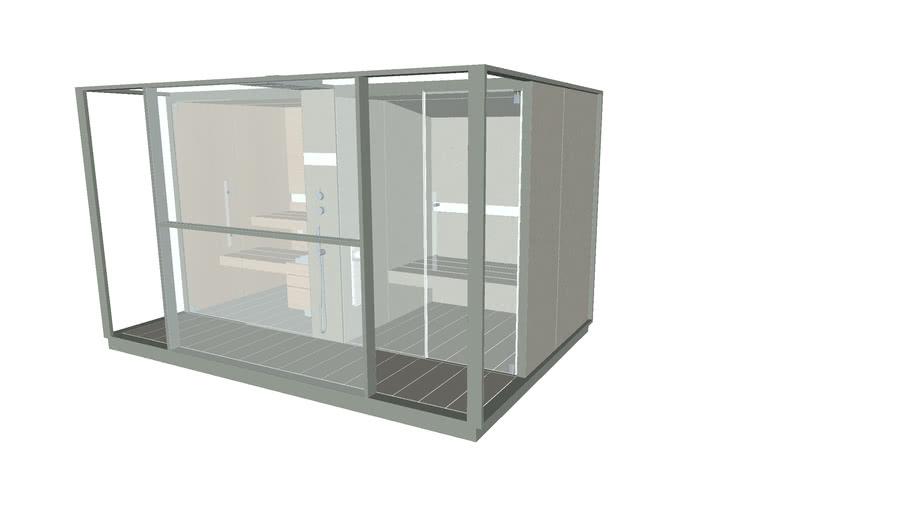 Effegibi Logica Twin Sand - a Home spa with sauna and hammam together
