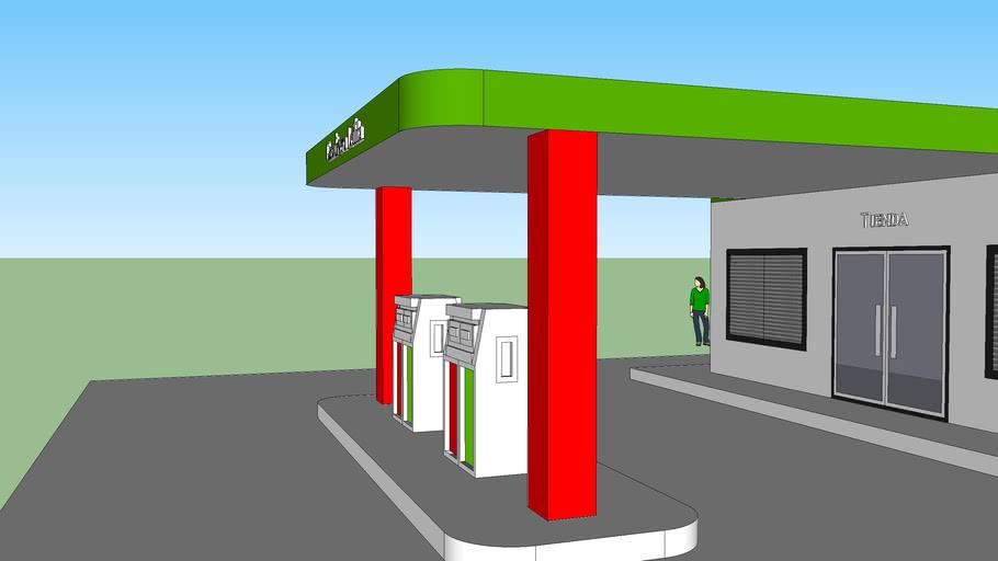 Diseño de gasolinera rural pequeña