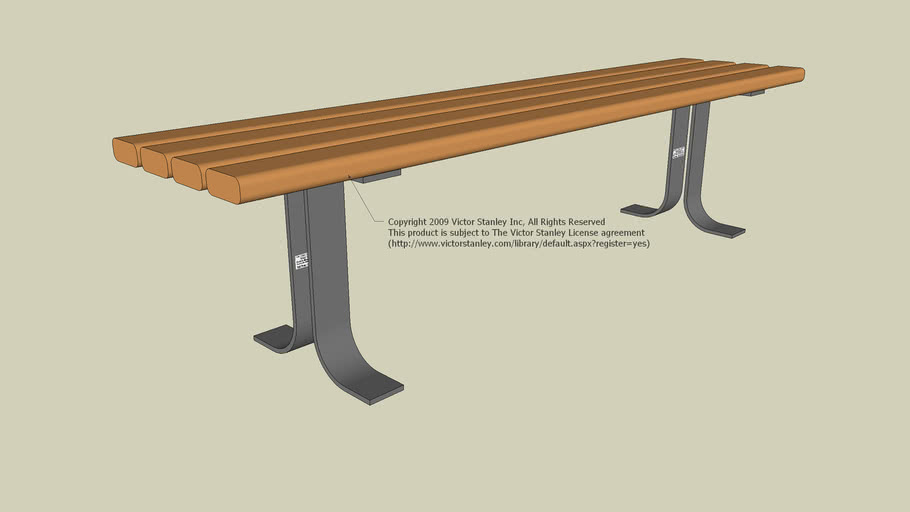 Model 4 Homestead 6ft Backless Wood Slat Bench