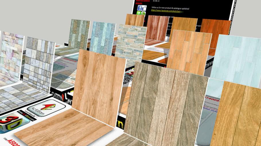 กระเบื้อง Digital Printing HD Ceramic Tiles ActUEarn3D Catalogue Part006