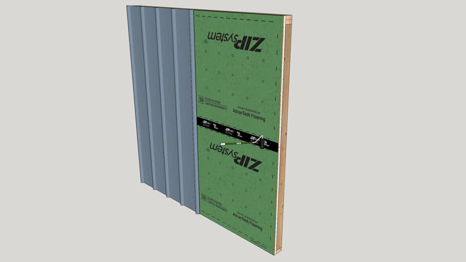 Metal Panels Over ZIP System R-Sheathing