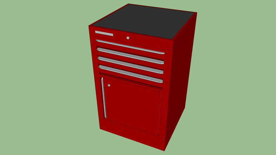 BF-064R - Tool Storage Cabinet w/ 4 Drawers and 1 Door