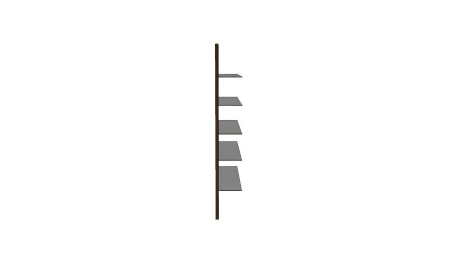 Open wall shelf
