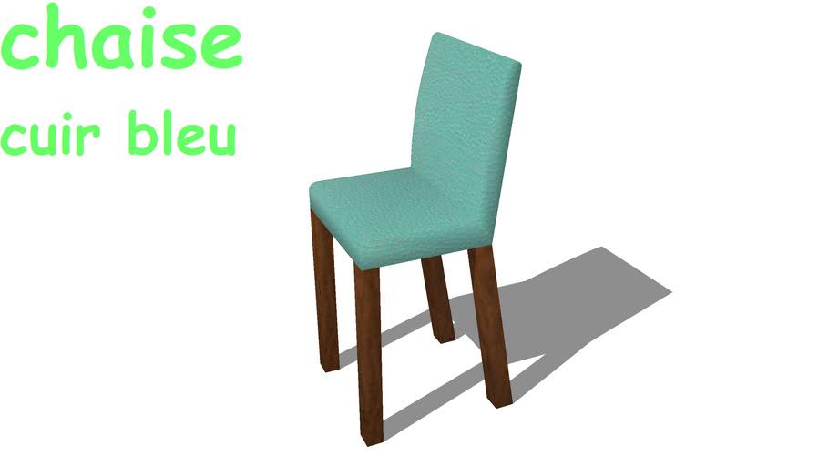 Chaise cuir bleu1