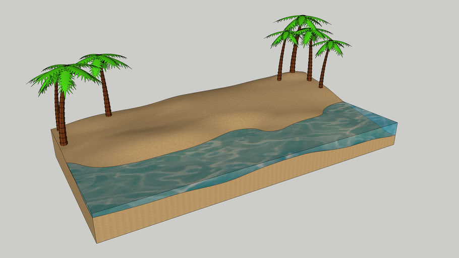 3D Modeling Challenge #1 - Beach!