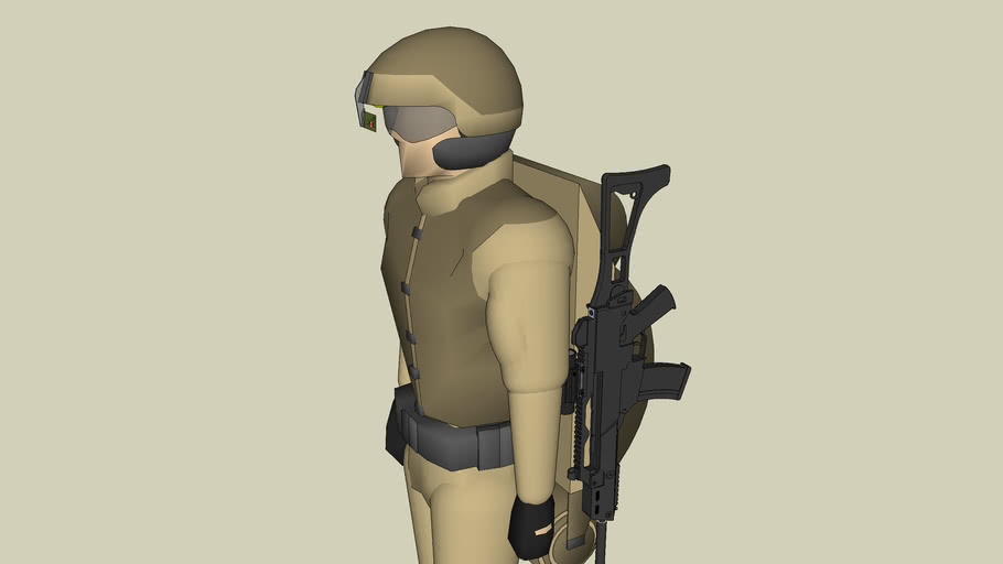 UGA-Standard soldier