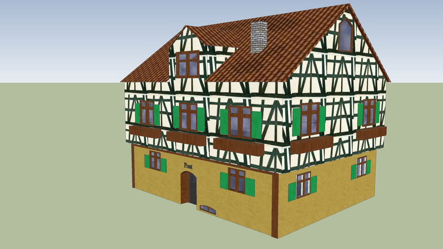 Altes Post-Fachwerkhaus