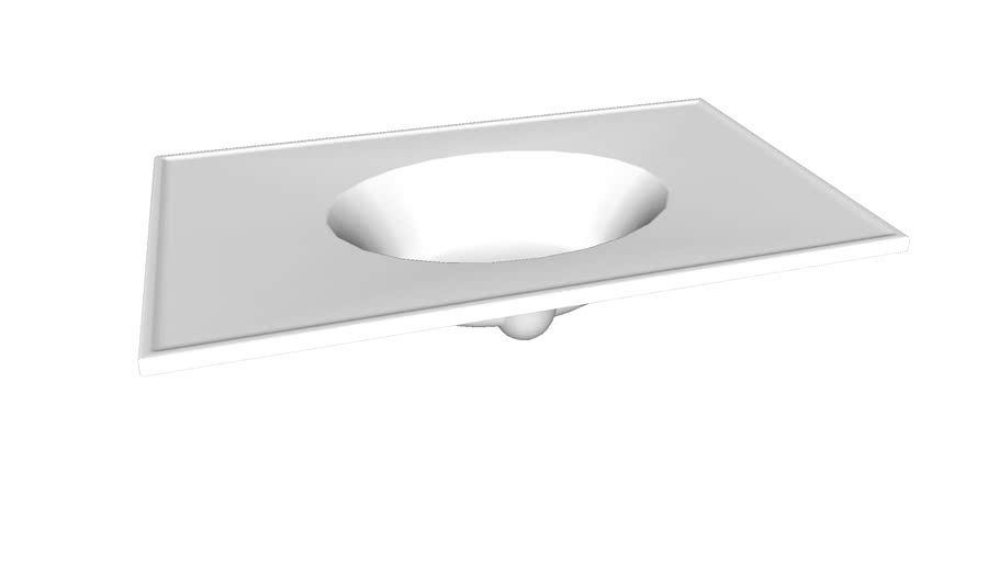 """K-2798-1 Ceramic/Impressions(R) 37"""" oval vanity-top bathroom sink with single faucet hole"""