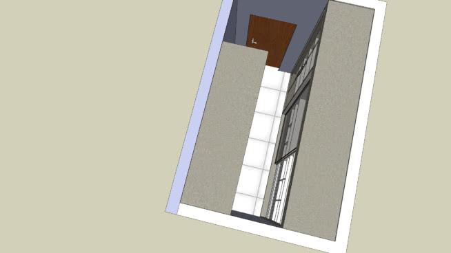 Closet Porta de Vidro refleta