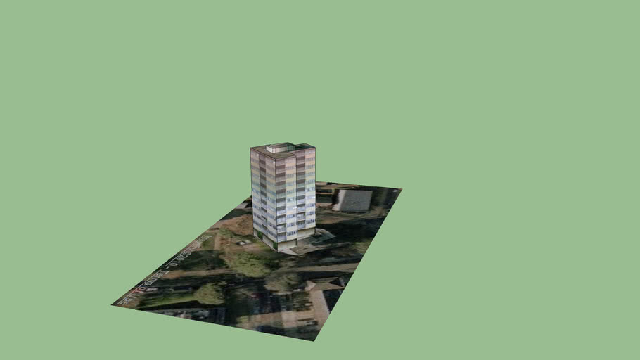 West Wandsworth Tower Block 1  (Part of London3dProject)
