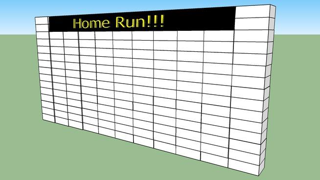 Home run sign