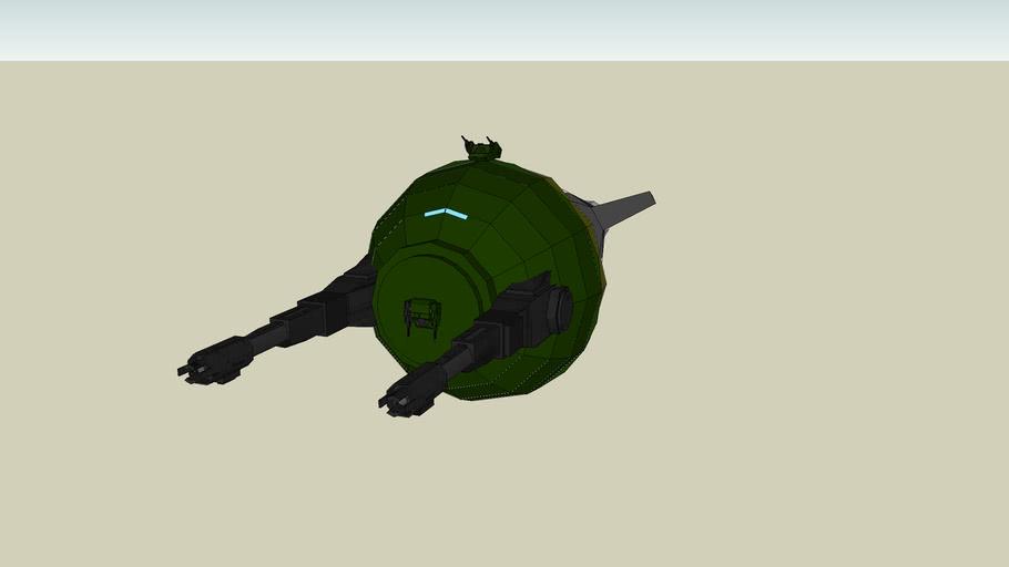space ship big gun
