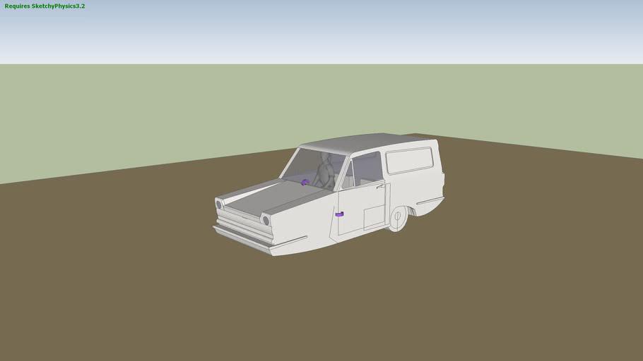Reliant Regal Supervan (Sketchyphysics)