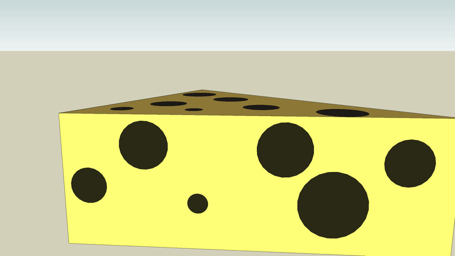 yellow and holey cheese