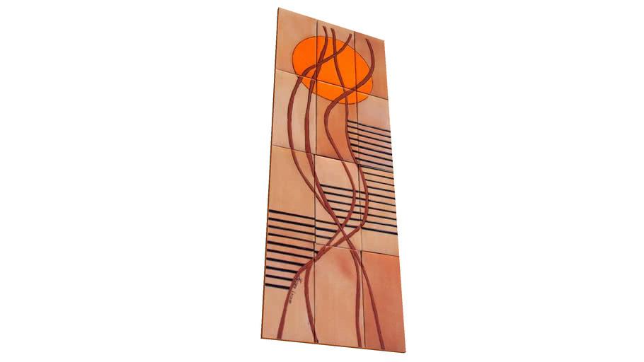 Cerâmica Fênix – ART COLLECTION – Oriente  Laranja18.000