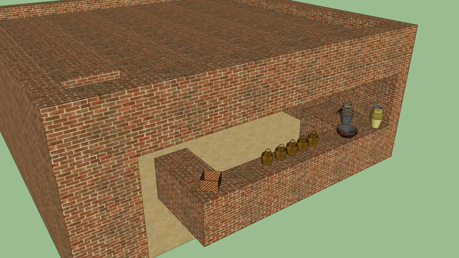 indus valley civilization small shop outside