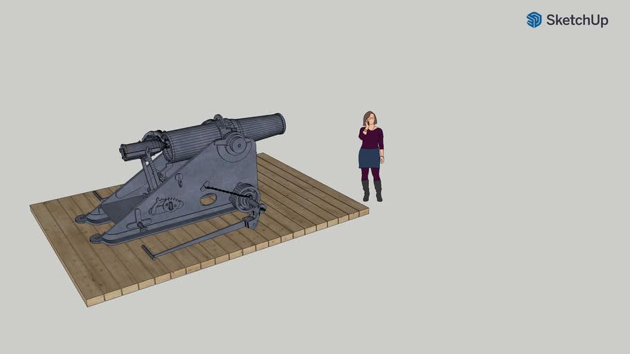 Mortier 220mm culasse ouverte