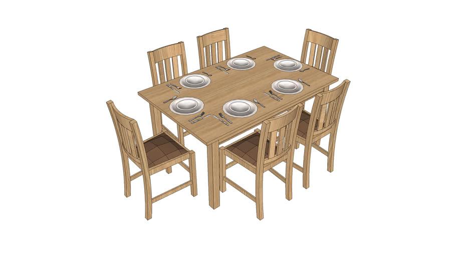 bàn ăn 16