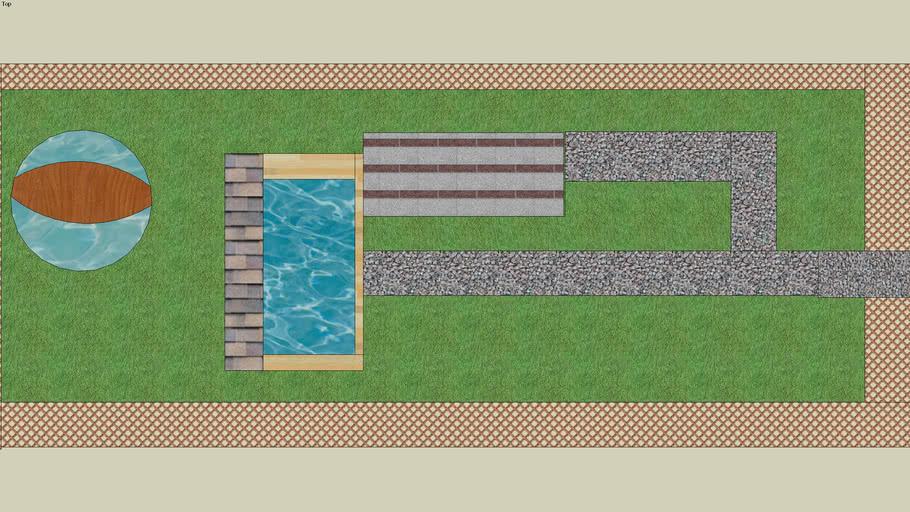 huis met zwembad en vijver