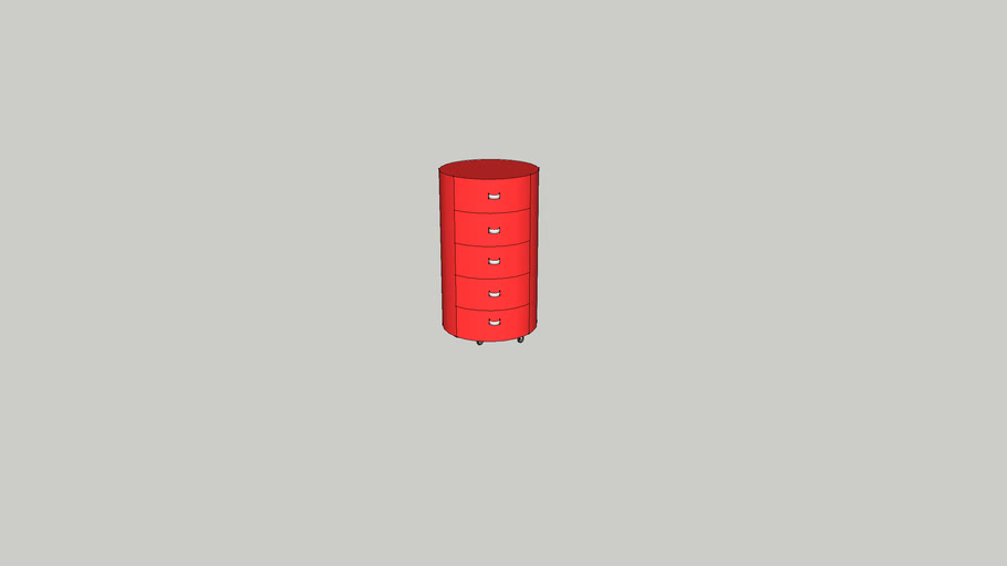round red drawrs set
