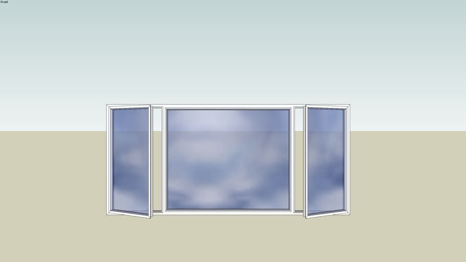 2200mm X 1000mm Aluminium Bedroom Window