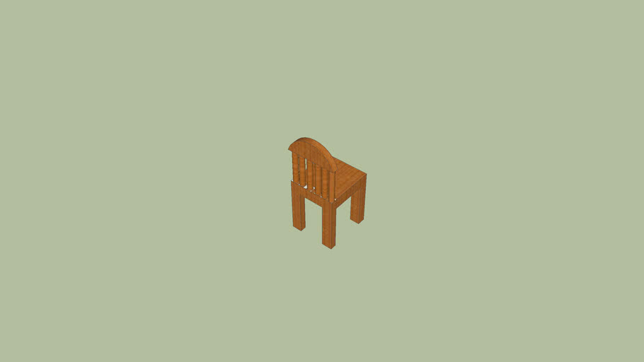 baboo wood chair