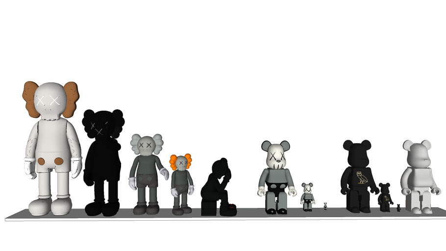 KAWS VS bearbrick Props set by Pooh