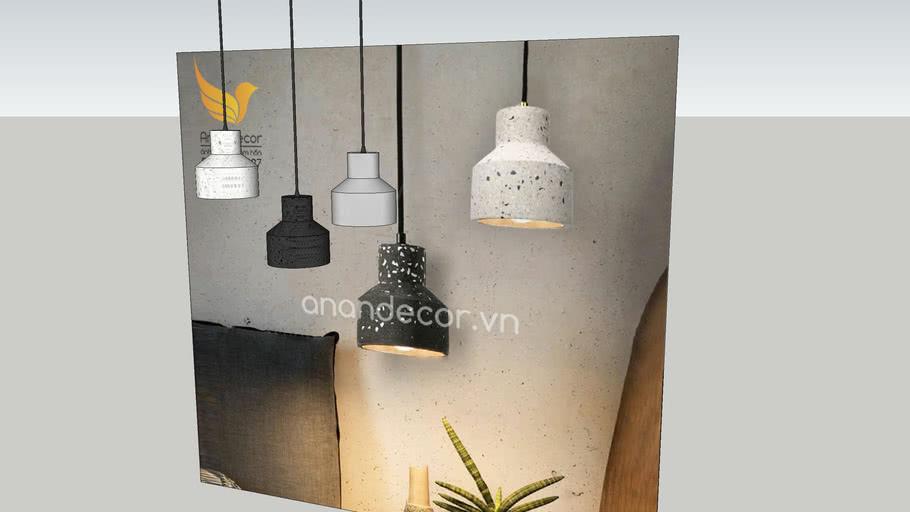 Đèn thả bê tông composite BTCN 15 ( Hanging Light composite Concrete Modern)