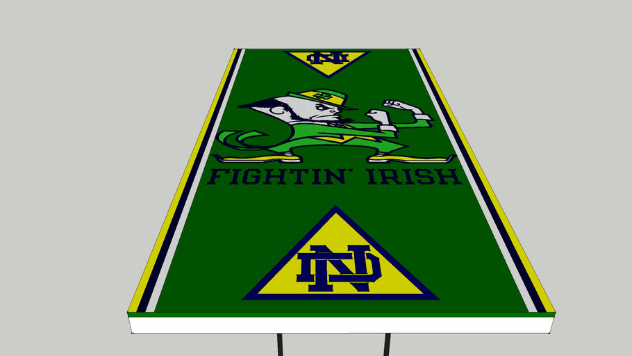Notre Dame Beer Pong Table 3d Warehouse