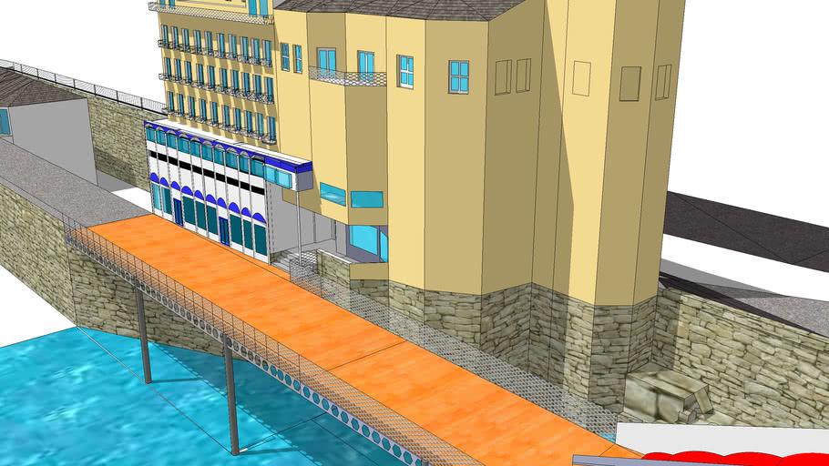 llandudno pier and grand hotel by paul cimatti