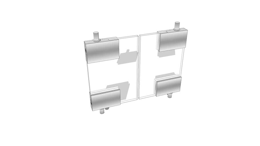 Cabinet glass doors and pivots.