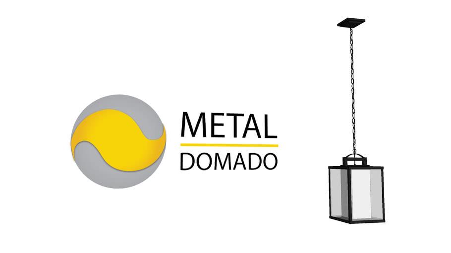 PENDENTE RETRÔ QUADRADO 5521 - METAL DOMADO ILUMINAÇÃO