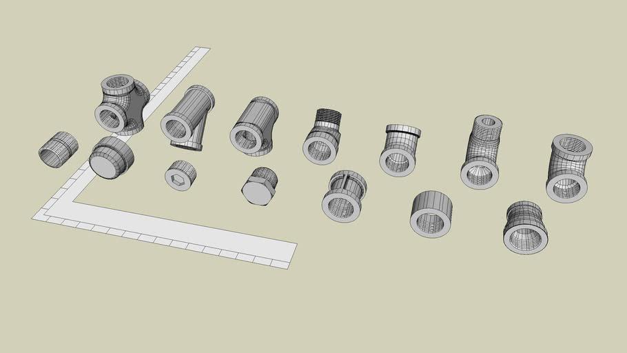 1 inch Iron Sch 40 NPT Fittings