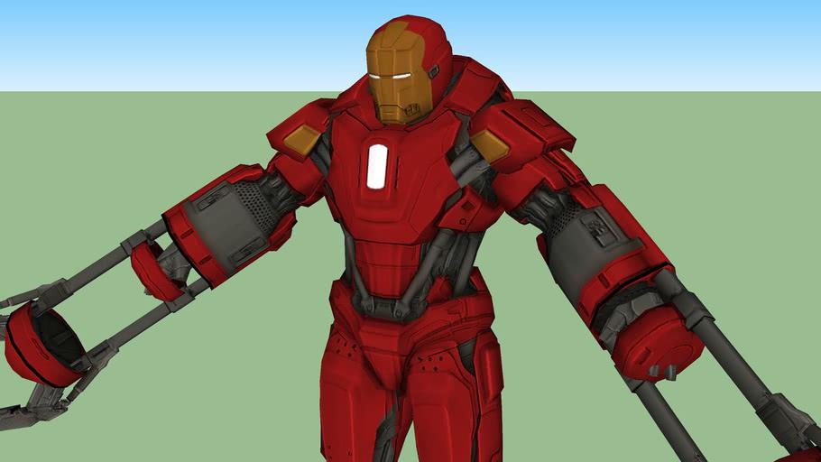 Mark 35 Red Snapper Iz Igry Iron Man 3 3d Warehouse