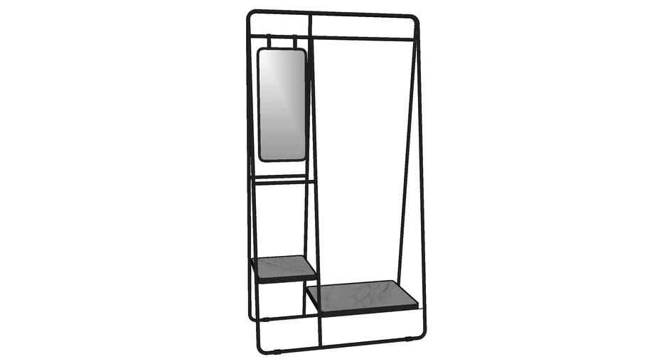 80013 Clothing Rack Mirror