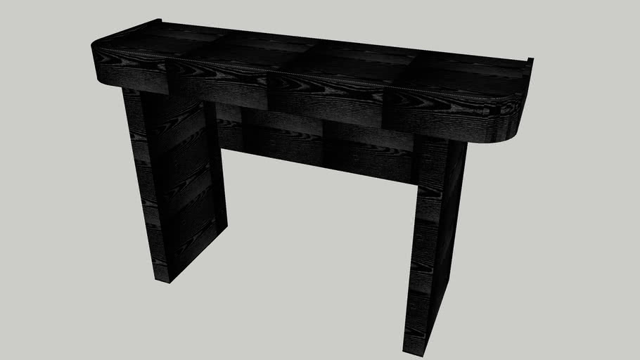 Console Table Black Oak