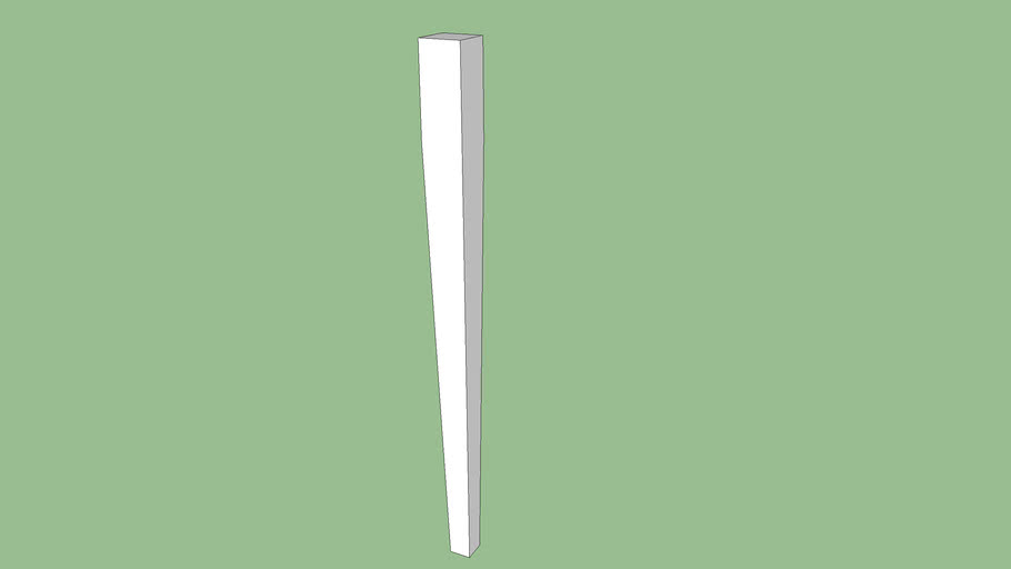 "tablelegs.com Large Hepplewhite Dining Table Legs 29"" Part #201D29"