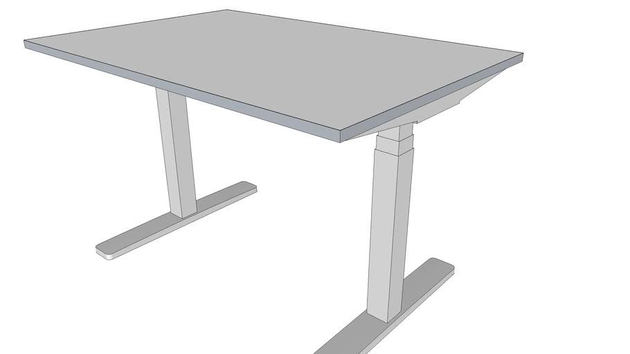 Height adjustable office desk,