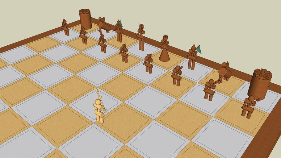 Crazy chess set