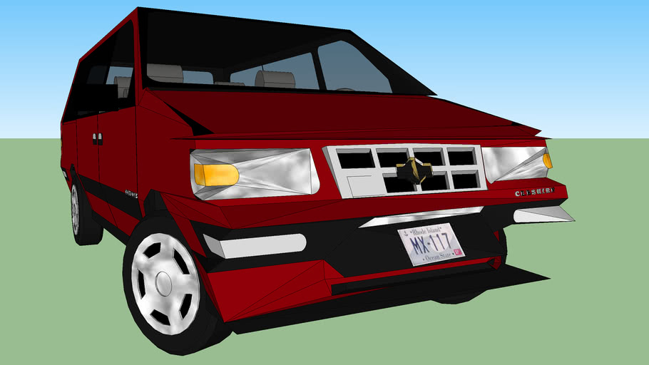 1998 Chevy Van Smashed